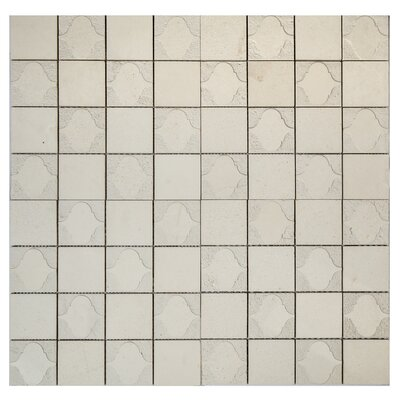 Cameo Funnel Marble Mosaic Tile in Botticino