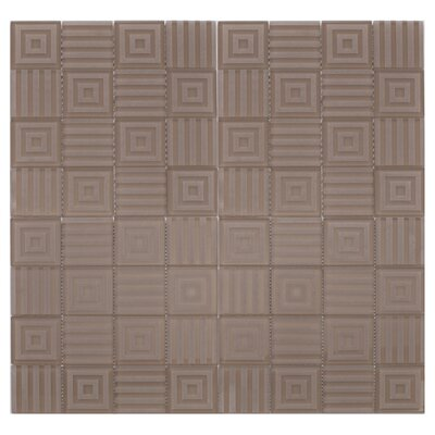 Cameo Symmetrical Glass Mosaic Tile in Brown
