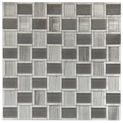 Sandbank Glass Mosaic Tile in Gray