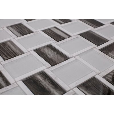Sandbank Glass Mosaic Tile in Black/Gray