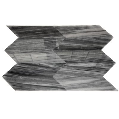 Lux Marble Tile in Gray Chevron
