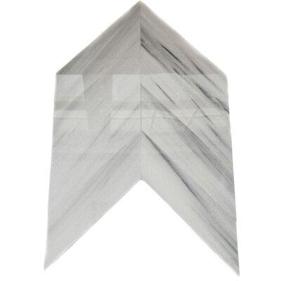 Lux Marble Tile in White Chevron