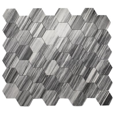 Lux Marble Tile in Gray Hexagon