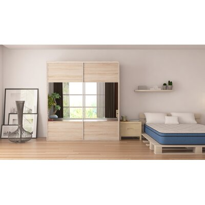 Zamorano Armoire with Mirror Sliding Doors