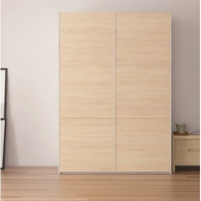 Zastrow Modern Armoire with Sliding Doors Color: Oak Sonoma, Size: 86 H x 60 W x 23.6 D