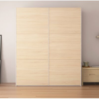 Zastrow Modern Armoire with Sliding Doors Color: Oak Sonoma, Size: 86 H x 72 W x 23.6 D