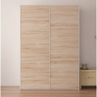 Zastrow Modern Armoire with Sliding Doors Color: Oak Sonoma Trufla, Size: 86 H x 60 W x 23.6 D