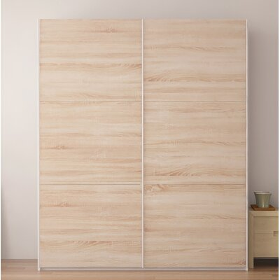Zastrow Modern Armoire with Sliding Doors Color: Oak Sonoma Trufla, Size: 86 H x 72 W x 23.6 D
