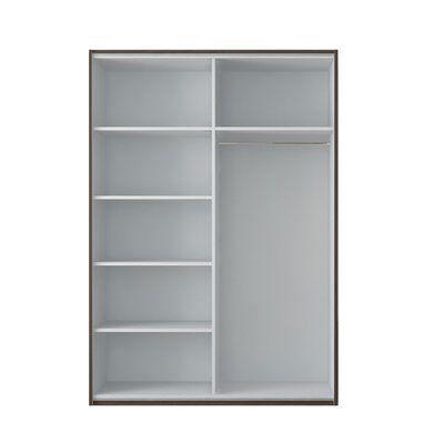 Zastrow 5 Shelves Armoire with Sliding Doors Color: Wenge