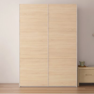 Zastrow Wood Armoire with Sliding Doors Color: Oak Sonoma