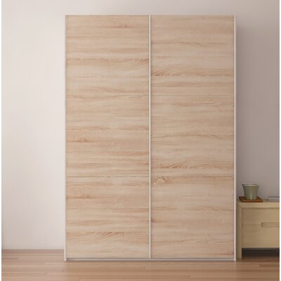 Zastrow Wood Armoire with Sliding Doors Color: Oak Sonoma Trufla