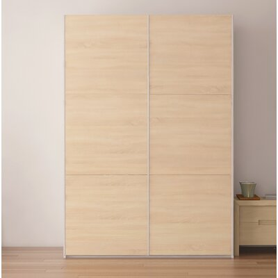 Zastrow Modern Wood Armoire with Sliding Doors Color: Oak Sonoma