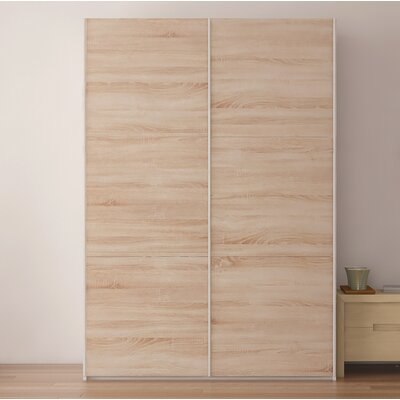 Zastrow Modern Wood Armoire with Sliding Doors Color: Oak Sonoma Trufla