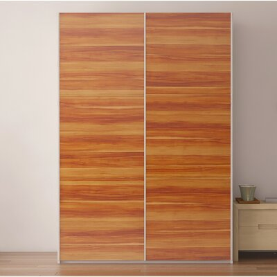 Zastrow Modern Wood Armoire with Sliding Doors Color: Plum Tree