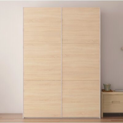 Zastrow 6 Shelves Armoire with Sliding Doors Color: Oak Sonoma