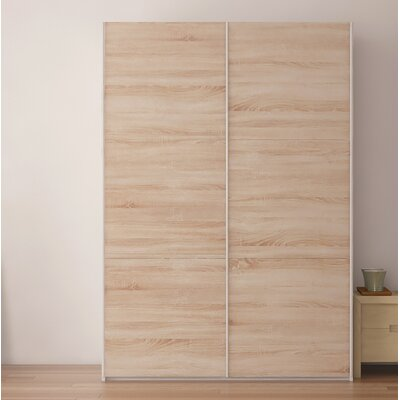 Zastrow Wardrobe Armoire with Sliding Doors Color: Oak Sonoma Trufla