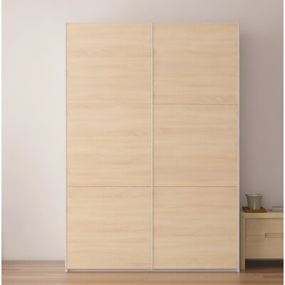 Zastrow 3 Drawers Wood Armoire with Sliding Doors Color: Oak Sonoma