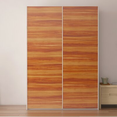 Zastrow 3 Drawers Wood Armoire with Sliding Doors Color: Plum Tree