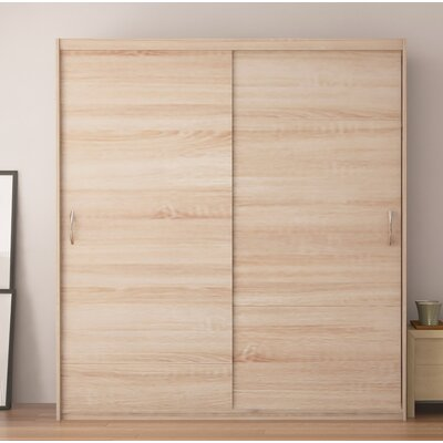 Zanders Armoire with Sliding Doors Color: Oak Sonoma