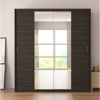 Zanders Armoire with Mirror Sliding Doors Color: Wenge