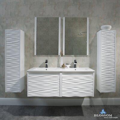 Artesian 48 Double Bathroom Vanity Set with Mirror