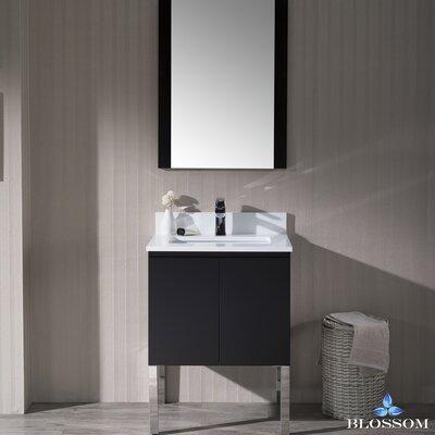 Maly Modern 24 Single Bathroom Vanity Set with Mirror Base Finish: Espresso