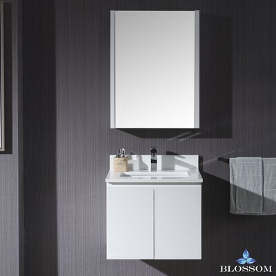 Maly 24 Single Bathroom Vanity Set with Mirror Base Finish: Matte White