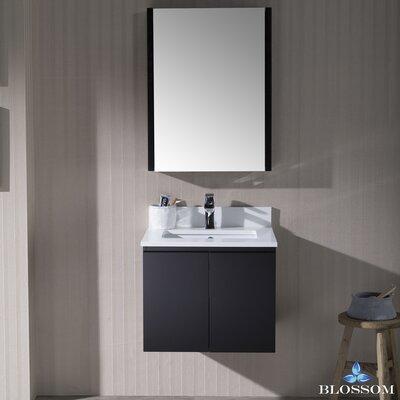 Maly 24 Single Bathroom Vanity Set with Mirror Base Finish: Espresso