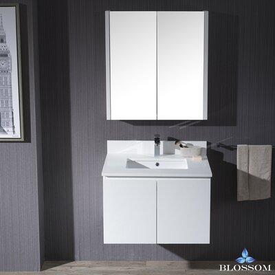 Maly 30 Single Bathroom Vanity Set with Mirror Base Finish: Matte White