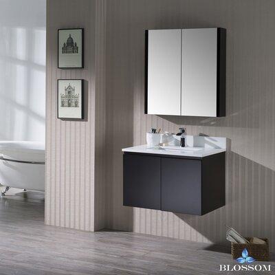 Maly 30 Single Bathroom Vanity Set with Mirror Base Finish: Espresso