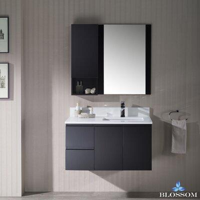 Maly 36 Single Bathroom Vanity with Mirror Base Finish: Espresso