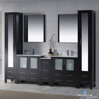 Mance 102 Double Bathroom Vanity Set Base Finish: Espresso