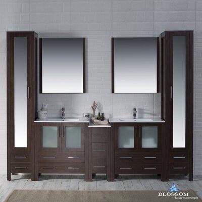Mance 102 Double Bathroom Vanity Set Base Finish: Wenge
