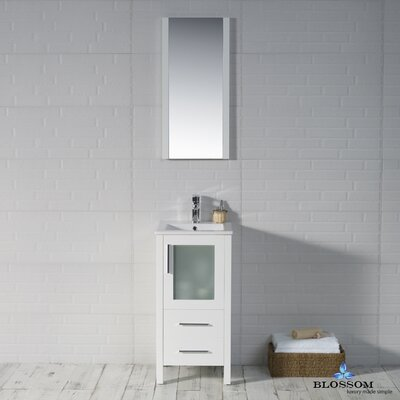 Mance 16 Single Bathroom Vanity Set Base Finish: Glossy White