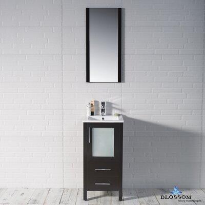 Mance 16 Single Bathroom Vanity Set Base Finish: Espresso