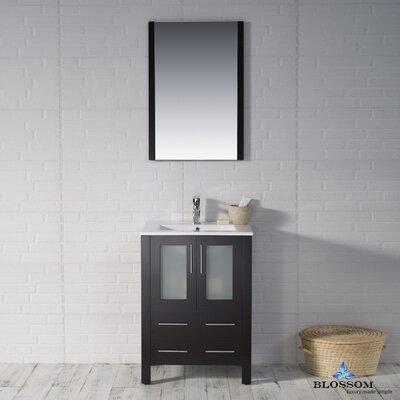 Mance Modern 24 Single Bathroom Vanity Set Base Finish: Espresso