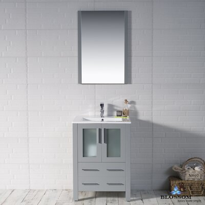 Mance Modern 24 Single Bathroom Vanity Set Base Finish: Metal Gray