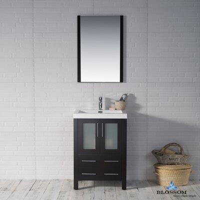 Mance 24 Single Bathroom Vanity Set Base Finish: Espresso