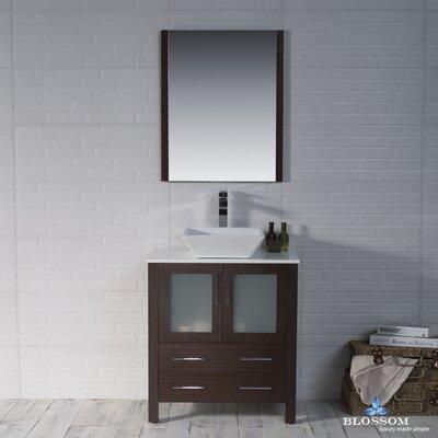 Mance 29 Single Bathroom Vanity Set with Mirror Base Finish: Wenge