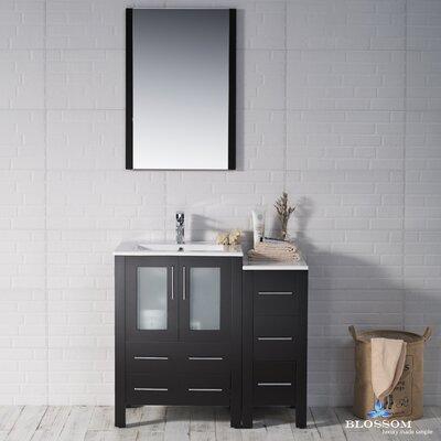 Mance Modern 36 Single Bathroom Vanity Set with Mirror Base Finish: Espresso
