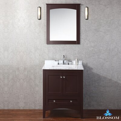 Mance 36 Single Bathroom Vanity Set with Mirror Base Finish: Espresso