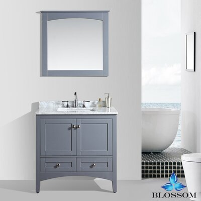 Mance 36 Single Bathroom Vanity Set with Mirror Base Finish: Charcoal Gray