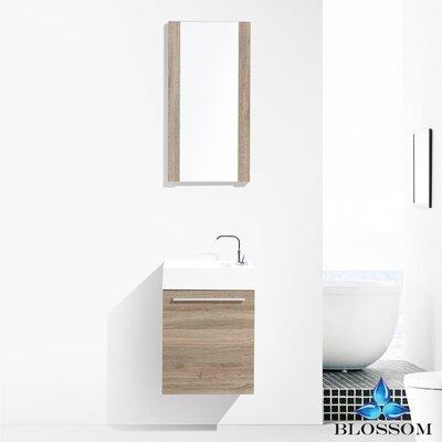 Mandel 18 Single Bathroom Vanity Set with Mirror Base Finish: Cart Oak