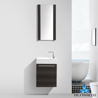 Mandel 18 Single Bathroom Vanity Set with Mirror Base Finish: Dark Oak