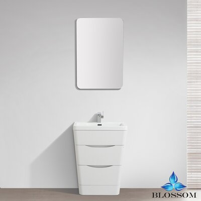 Mandurah 32 Single Bathroom Vanity Set with Mirror Base Finish: White Wood