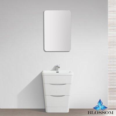 Mandurah 32 Single Bathroom Vanity Set with Mirror Base Finish: White Wood