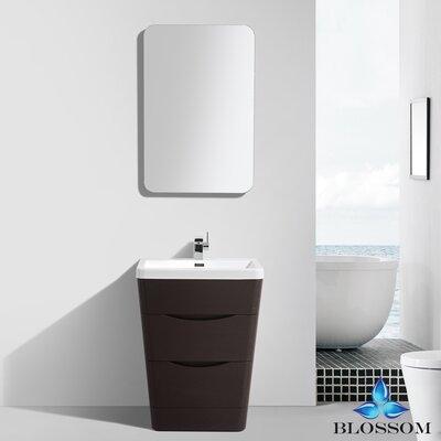 Mandurah 26 Single Bathroom Vanity Set with Mirror Base Finish: Chestnut