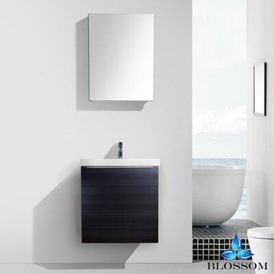 Maness 24 Single Bathroom Vanity Set with Mirror Base Finish: Gray