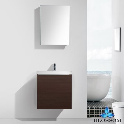 Maness 24 Single Bathroom Vanity Set with Mirror Base Finish: Brown