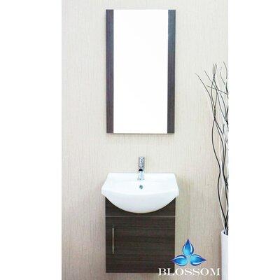 Conrad 18 Single Bathroom Vanity Set with Mirror Base Finish: Gray Oak
